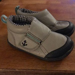 Cute nautical toddler shoes
